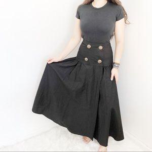 Vintage Black/Gold Wrap Skirt Sz6
